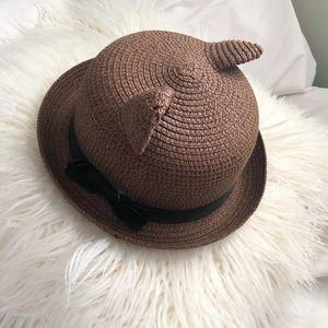 Accessories - 🍊Kawaii Straw Cat Ears Bowler Hat
